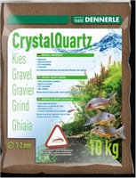 DENNERLE CRYSTAL QUARTS 1-2MM 10 KG DONKERBRUIN