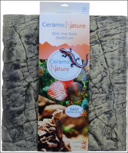 CERAMIC NATURE SLIMELINE ROCK 50X55CM COLORADO BROWN