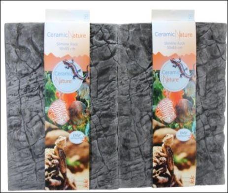 CERAMIC NATURE SLIMELINE ROCK 50X65CM OXFORD GREY