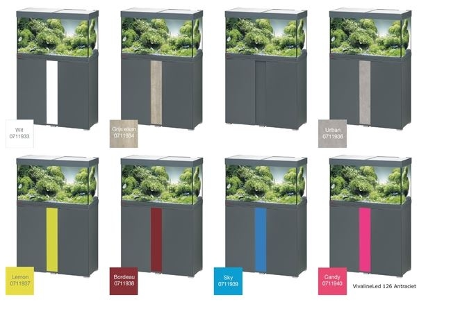 EHEIM VIVALINE 126 LED+  SET MET MEUBEL   div. kleuren