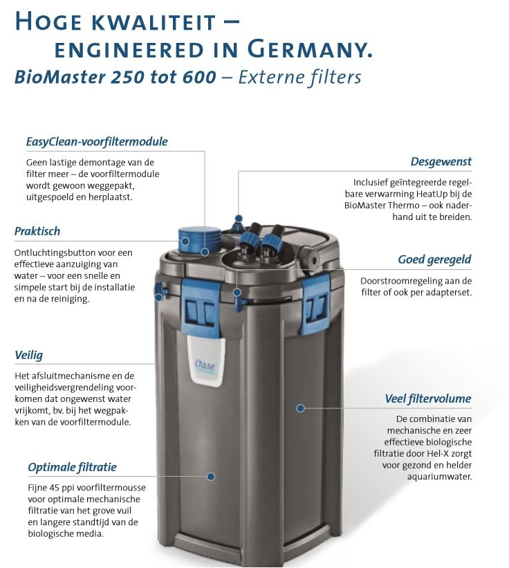 OASE BIOMASTER THERMO 850 BUITENFILTER